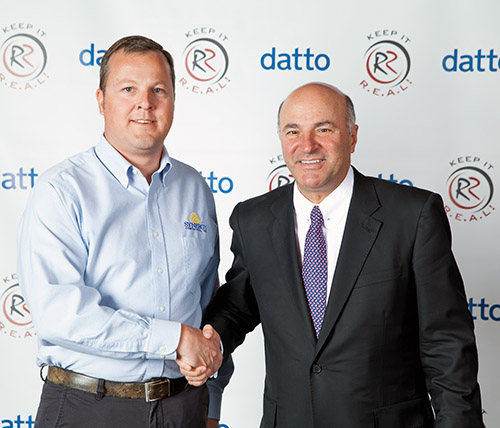 Scott Phillips with Shark Tank Kevin O'Leary aka Mr Wonderful