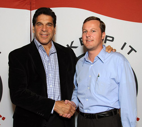 Scott Phillips with Lou Ferrigno